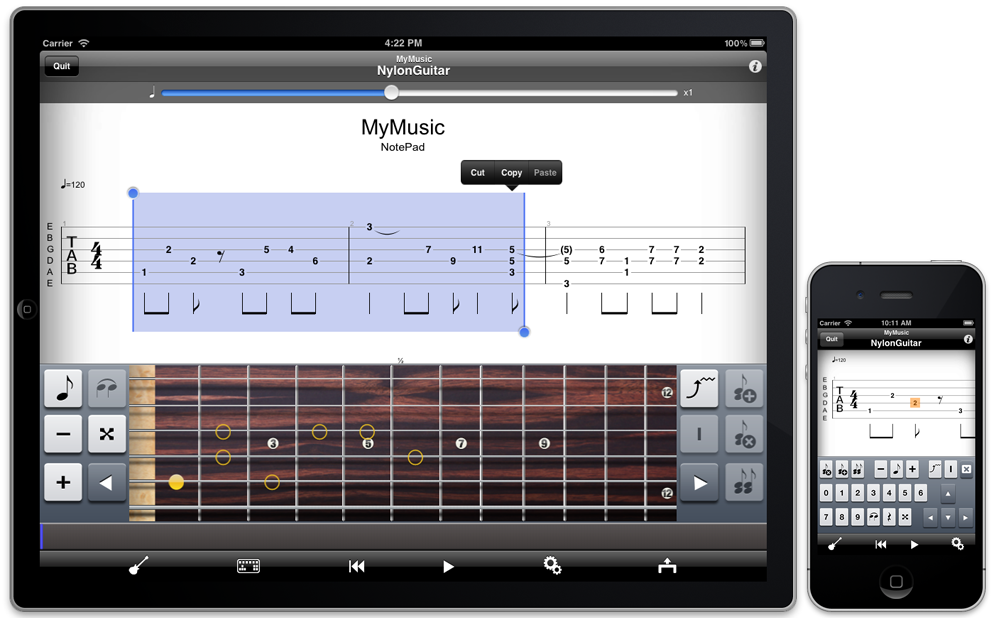 Guitar Pro sur iPhone / iPad