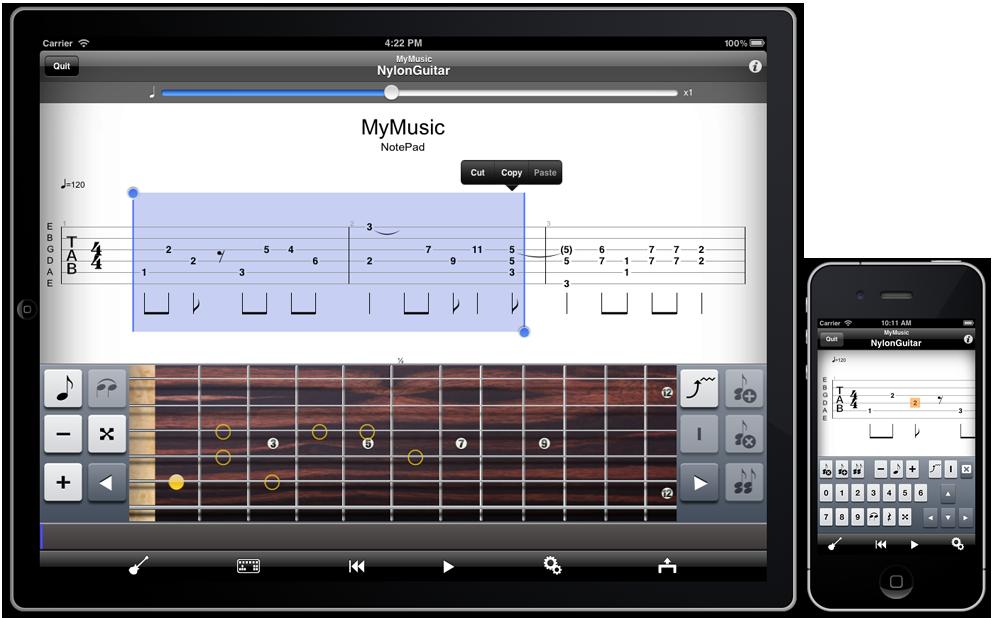 Guitar Pro sur iPhone / iPad