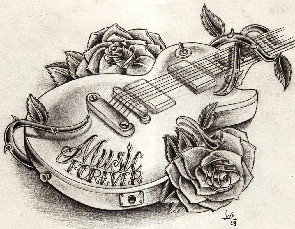 Willemxsm Drawings Tattoos And Guitars Guitar Wink