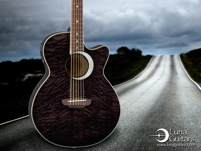 Des magnifiques wallpapers chez Luna Guitars | Guitar Wink